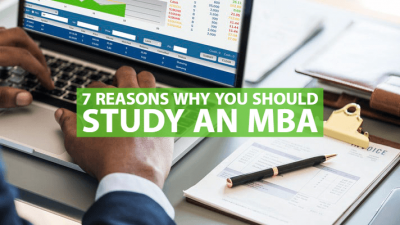 Students studying MBA